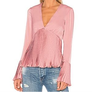 NEW Lovers + Friends X REVOLVE Fain Blouse